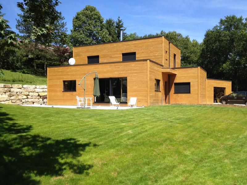 Maison d 39 architecte en ossature bois passive en is re 38 for Architecte maison passive