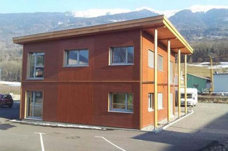 Immeuble de bureaux à ossature bois à albertville