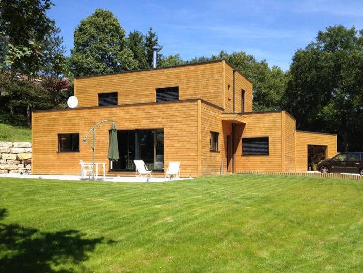 maison d 39 architecte en ossature bois passive en is re 38. Black Bedroom Furniture Sets. Home Design Ideas